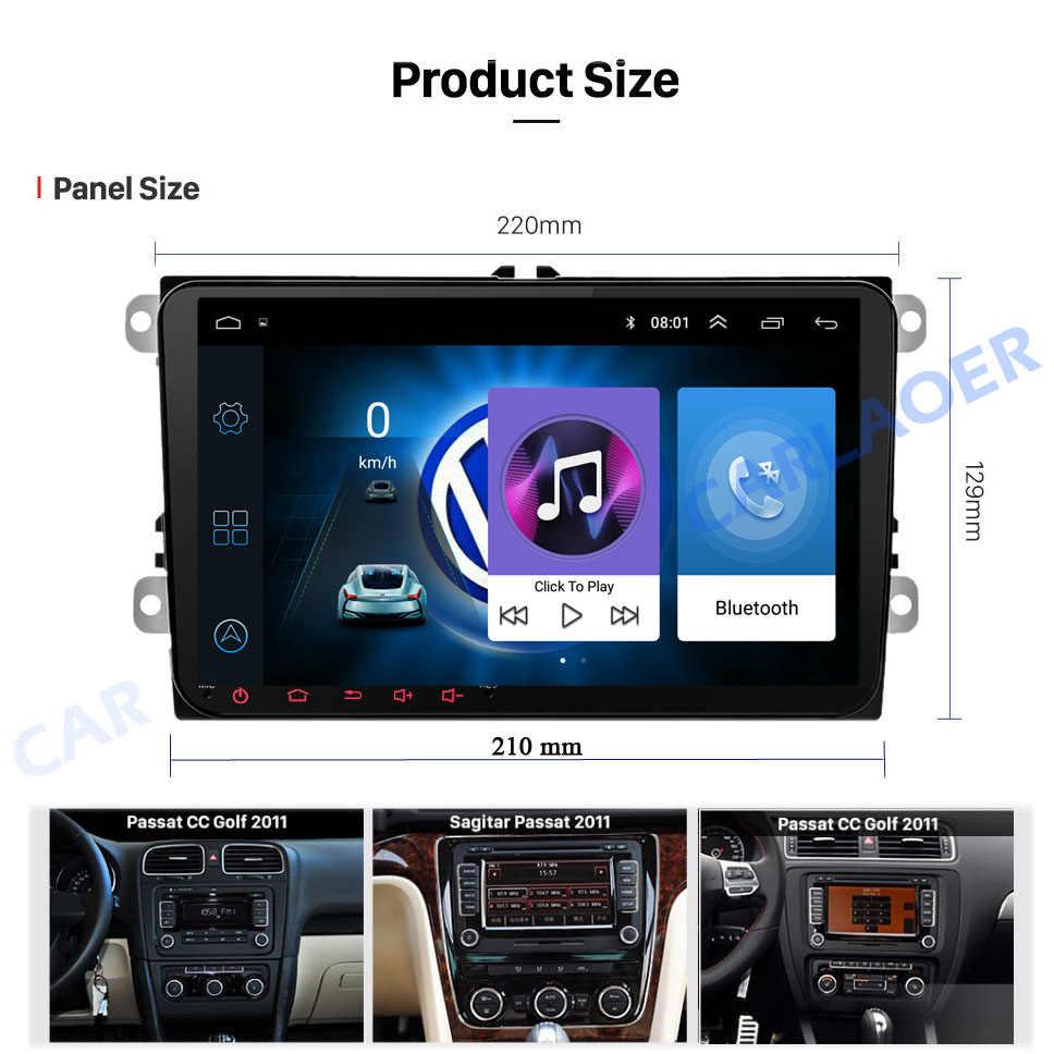 "Baru! 9 ""Android Gps Navigasi Mobil 2DIN untuk Volkswagen Skoda Golf 5 Golf 6 POLO Passat B5 B6 Kursi Tiguan 2 DIN Multimedia Player"