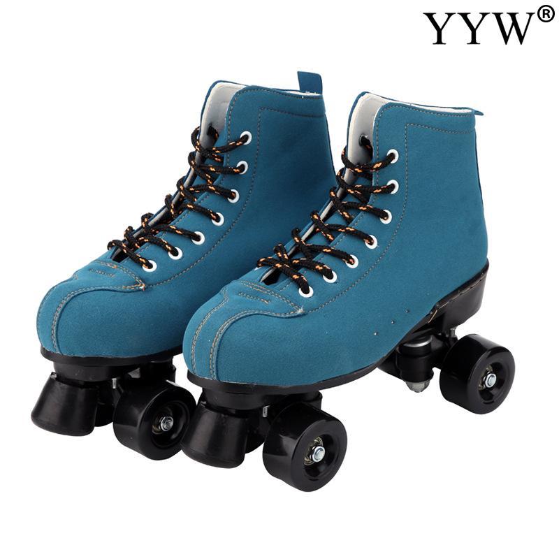 2019 Girls Women Kids Children Roller Skates Skating Shoes Sliding Quad Sneakers 4 Wheels 2 Row Line