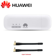 HUAWEI E8372h-608 4G LTE módem 150mbps MIFI Hotspot 10 usuarios 4G USB Dongle 2 uds TS9 antenas (desbloqueado) E8372 Wingle(China)