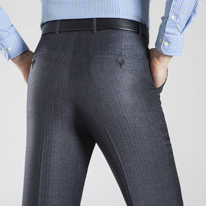 Image 3 - Letni biznes cienki kombinezon spodnie dla mężczyzn rozmiar 29 56 wiosna jesień mężczyzna formalne jednolity jedwab długie spodnie wizytowe workowate spodnie biurowe