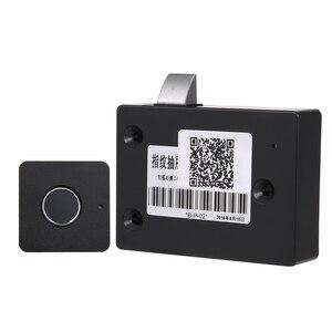 Image 1 - スマートキーレス指紋キャビネットロックバイオメトリック電気錠指紋オフィス引き出し用引き出しロックファイルキャビネット黒