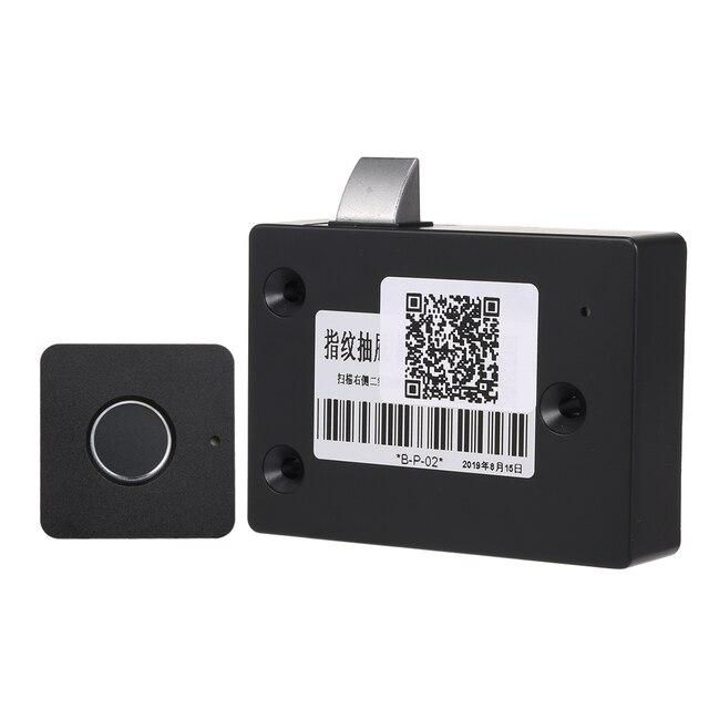 スマートキーレス指紋キャビネットロックバイオメトリック電気錠指紋オフィス引き出し用引き出しロックファイルキャビネット黒