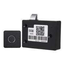 สมาร์ท Keyless ลายนิ้วมือตู้ล็อค Biometric ล็อคไฟฟ้าลายนิ้วมือลิ้นชัก Lock สำหรับลิ้นชักสำนักงานแฟ้มตู้สีดำ
