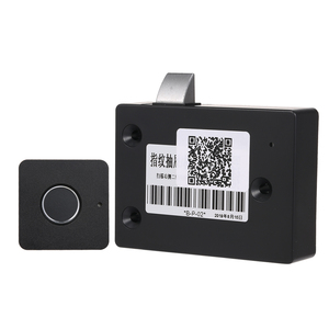 Image 1 - Smart Keyless Fingerprint Cabinet Lock Biometric Electric Lock Fingerprint Drawer Lock for Office Drawer File Cabinet Black