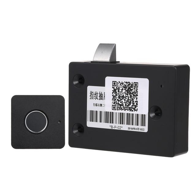 Smart Keyless Fingerprint Cabinet Lock Biometric Electric Lock Fingerprint Drawer Lock for Office Drawer File Cabinet Black