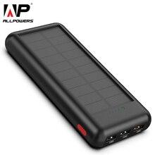 Allpuissances plus récent 24000mAh batterie Portable solaire Portable batterie externe batterie de secours solaire chargeur pour téléphone intelligent