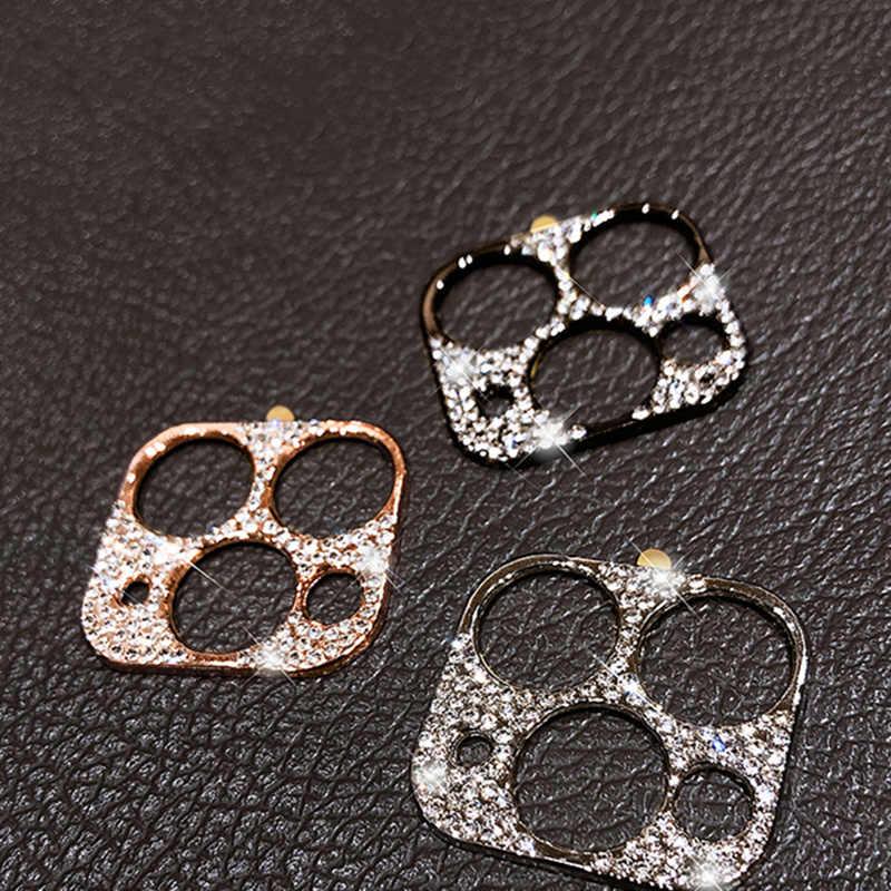 بلينغ الماس عدسة الكاميرا حامي آيفون 11 برو ماكس بريق حجر الراين كاميرا واقية الدائري آيفون 11 برو ماكس غطاء
