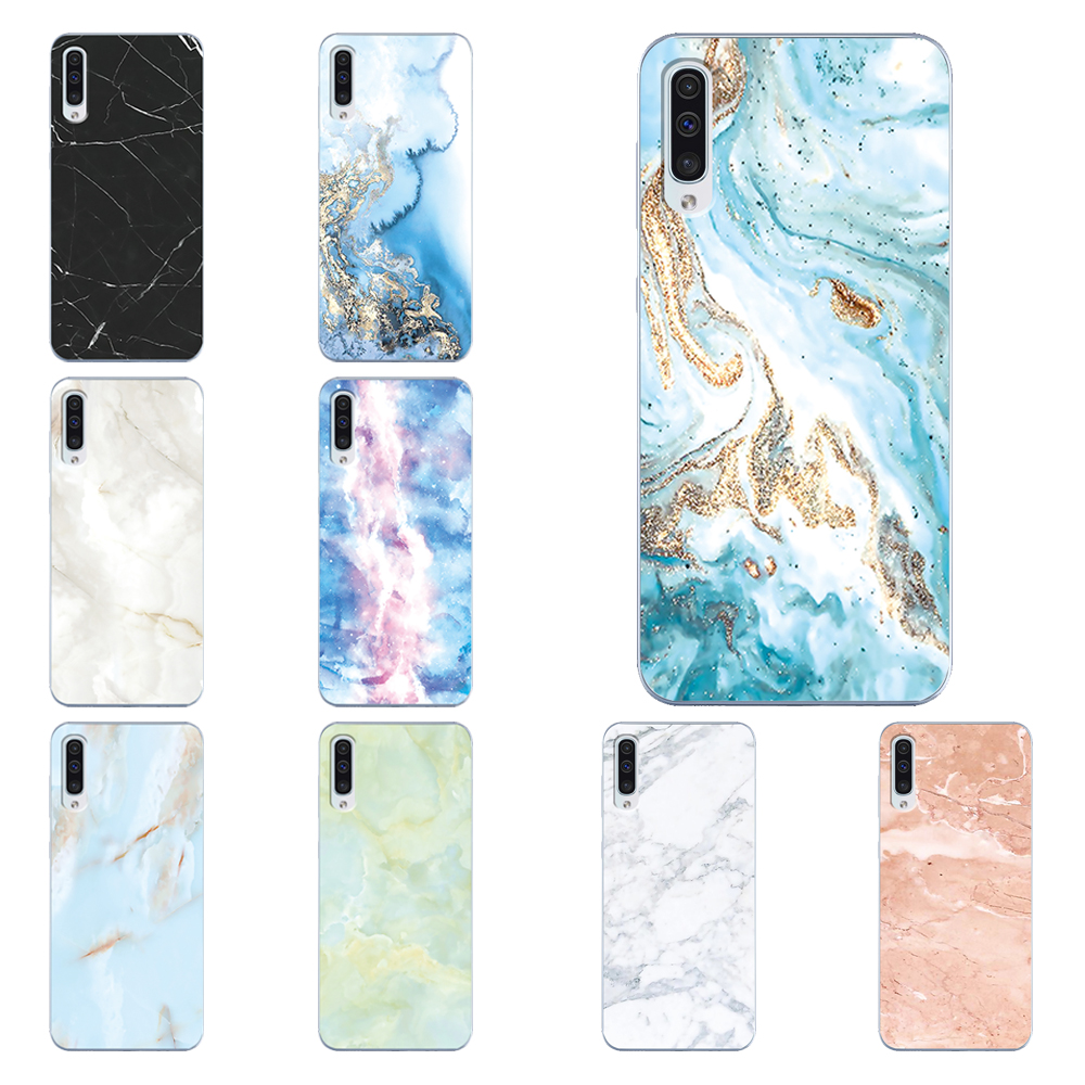 Phone <font><b>Case</b></font> For <font><b>Samsung</b></font> <font><b>Galaxy</b></font> A40 A50 A50S A30S A20E A310 <font><b>A10</b></font> A510 A70 A30 A2 core Transparent <font><b>Marble</b></font> Printed TPU Silicone Cover image