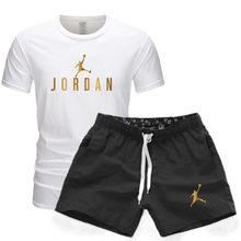 2021 marca jordan 23 moletom calças masculinas de verão algodão camiseta + shorts terno casual roupas esportivas masculinas