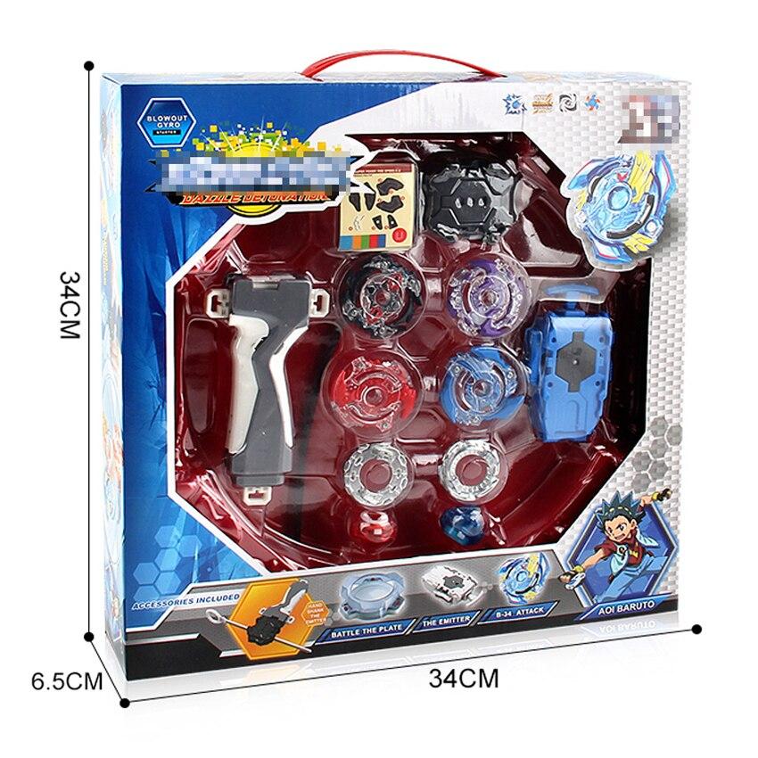 Caixa original beyblade explosão para venda metal fusão 4d bb807d com lançador e arena conjunto de topo crianças jogo brinquedos