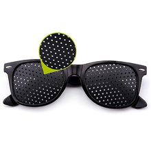 Czarny wzrok poprawa pielęgnacja ćwiczenia okulary okulary szkolenia okulary rowerowe Pin mały otwór okulary Camping okulary tanie tanio 48mm WYY098 Black 54mm Unisex