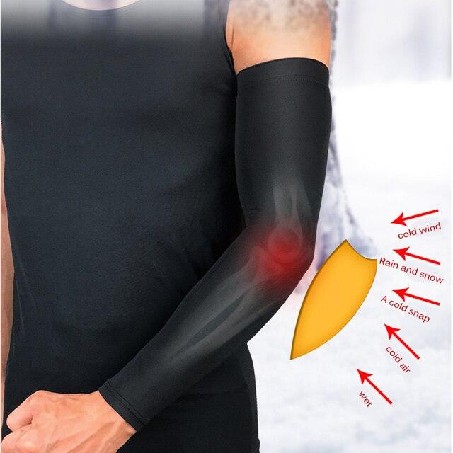 Luva aquecedora para braço, unissex, manga longa, para o inverno, esportes, cotoveleira, protetora, ciclismo, corrida, fitness, roupas esportivas 3