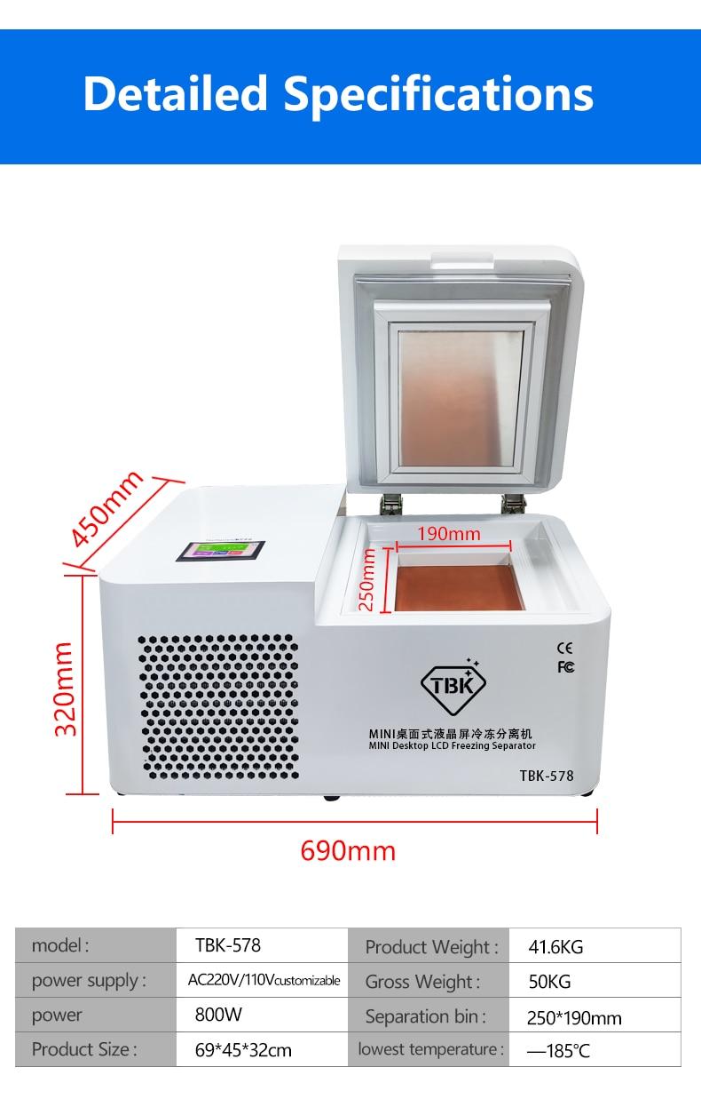 TBK-578 Frozen Separating Machine For Smartphone LCD Repair 8