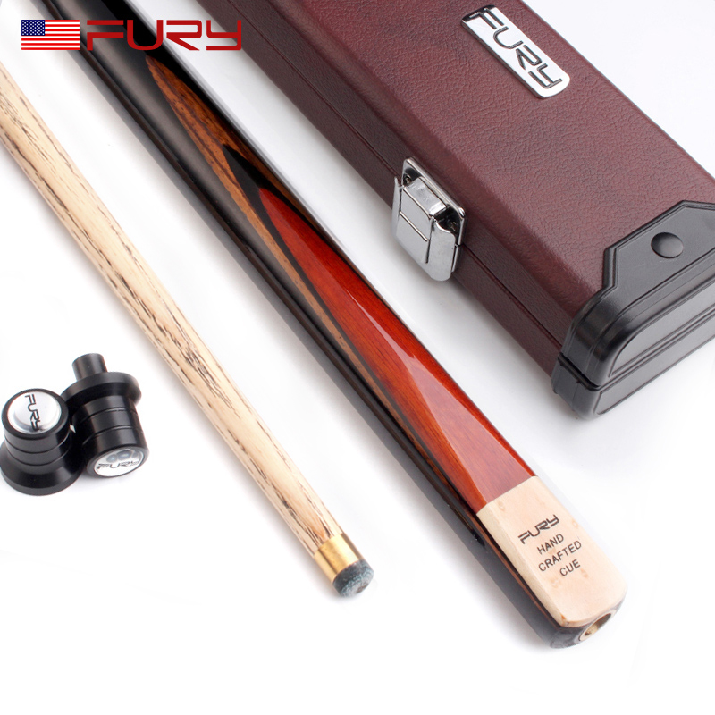 Hot Sale Fury New Snooker Cue Stick With Case 9.8mm Tip Canada Ash Shaft Brass Joint Billiard Cue Kit Snooker Stick Kit бильярд