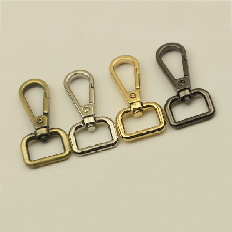 2Pcs/set 50mm Bag Clasps Lobster Swivel Trigger Clips Snap Hook For  Strapping For DIY Accessories Keychain Parts