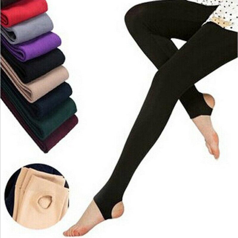 Women Warm Winter Fleece Lined Slim Leggings Stretch Pants Soft Skinny Trousers New