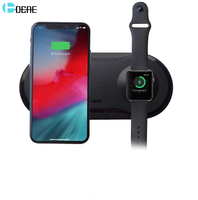 DCAE 2 in 1 Dual Wireless Charging Pad for iPhone 11 XS XR X 8 AirPods Pro Apple Watch 5 4 3 2 10W Fast Qi Charger Dock Station