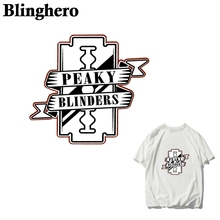 CA988 Peaky Blinders TV ironing sticker heat transfer vinyl patch thermal iron on for clothes t-shirt cartoon appliques