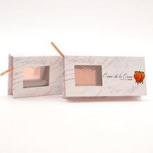 100/paket özel kirpik kutuları ambalaj kirpik kutusu ile logo faux cils 25mm vizon kirpik şerit kare manyetik kılıf toplu satıcıları