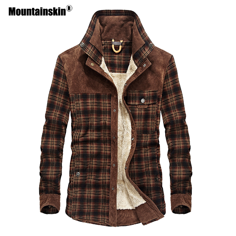 Mountainskin Men's Warm Jacket Fleece Thick Army  Coat Autumn Winter Jacket Men Slim Fit Clothing Mens Brand Clothing SA831