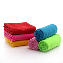 Унисекс, спортивное быстросохнущее бамбуковое полотенце, летнее, тонкое, для спортзала, плавания, многоразовое, прохладное, для лица, маленькое полотенце для сброса тепла, 65X28 см