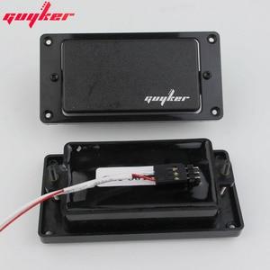 GUYKER Закрытая черная гитара звукосниматель-хамбакер активный звукосниматель набор (оснащен потенциометром и американским выходом гитарный разъем)