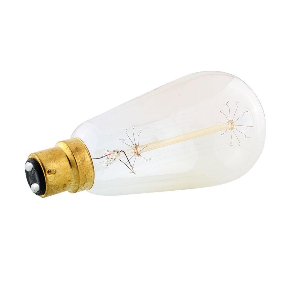 Накаливания теплый белый свет вертикальный B22 ST64* Античный Эдисон Винтаж 220 В Светодиодная лампа стиль для Droplight Ретро лампочка