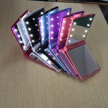 Светодиодный блестящее зеркало светодиодный макияж зеркало свет включен макияж зеркало рекламный подарок производителей в настоящее время ава