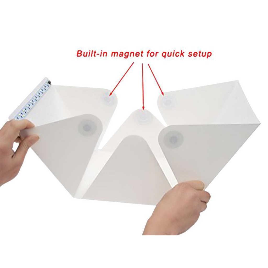 Портативный мини складной лайтбокс Фотостудия софтбокс светодиодный свет комната Мягкая коробка камера фото фоновая коробка световой тент комплект