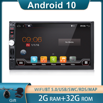 2 din car radio gps android 10 car stereo cassette player recorder Radio Tuner GPS Navigation RDS support steering wheel control image