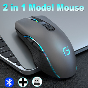 Image 5 - CHOTOG 무선 마우스 블루투스 5.0 + 2.4G 게임 컴퓨터 마우스 게이머 인체 공학적 2400 인치 당 점 광학 전문 마우스 PC 노트북