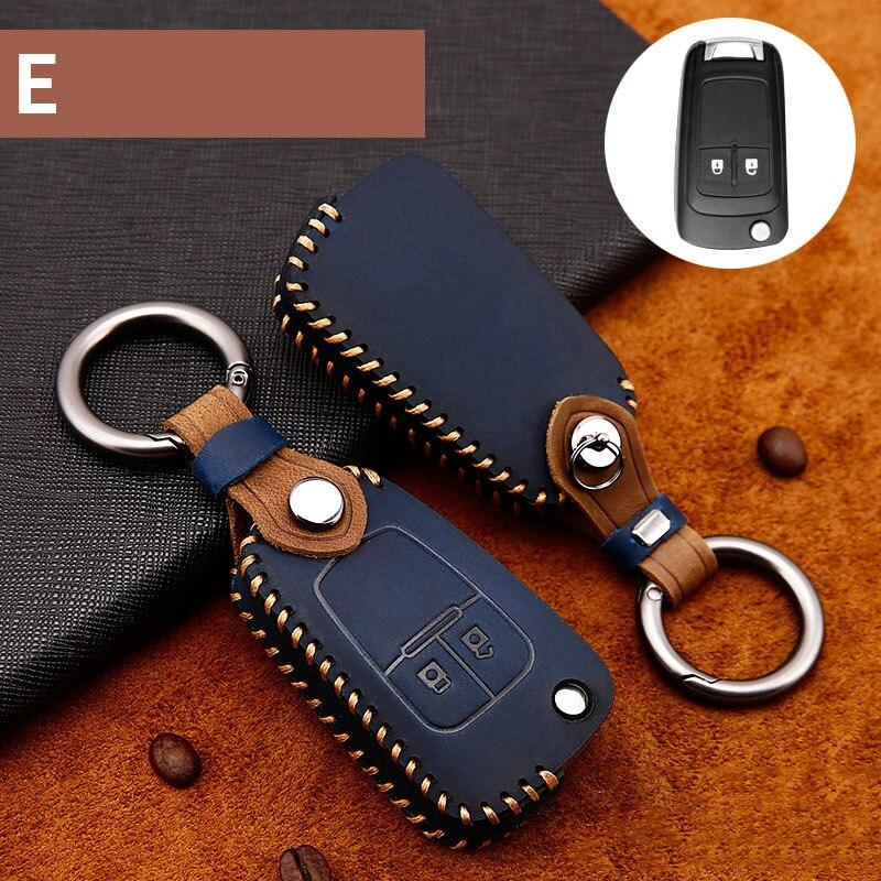 Leather Car Key Case Cover for Buick Chevrolet Cruze Aveo Trax Opel Vauxhall J Mokka Encore Astra Corsa Meriva Zafira Antara