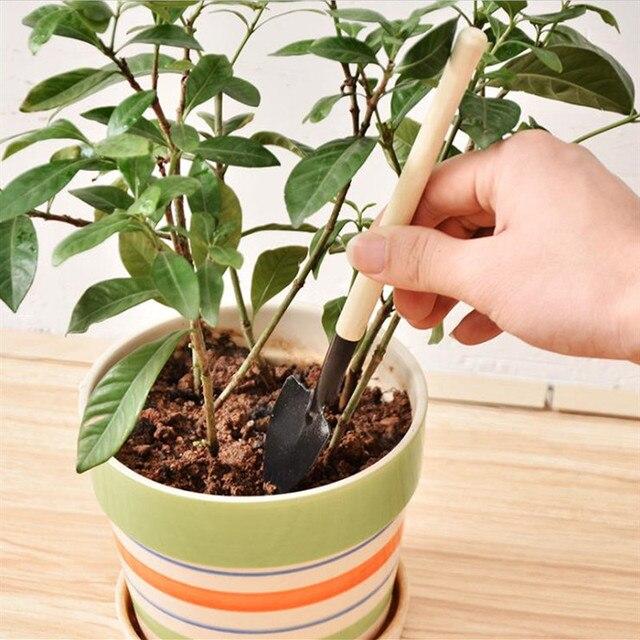 3 개/대 미니 원예 도구 원예 삽 스페이드 세트 여성을위한 미니 실내 정원 도구 어린이 집 식물