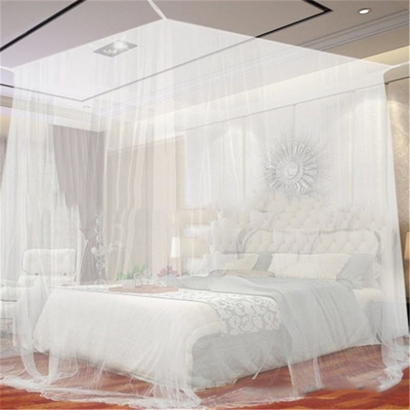 Oversized Outdoor Camping Mosquito Net Canopy Bed Curtain Repellent Tent Insect Reject 4 Corner Post Canopy Travel Bed Tent