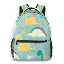 Backpack Casual Travel Bag Colorful Dinosaur Pattern School Bag Fashion Shoulder Bag For Teenage Girl Bagpack