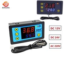 Controlador de temperatura W3230 W3231 12V 24V 110V 220V termostato Digital termorregulador para caja incubadora medidor de temperatura prueba