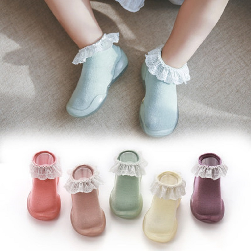 Infant Baby Girls Shoes Crib Prewalker Soft Sole Non-slip Slippers Sneakers Floor Socks Boot Breathable Waterproof First Walking
