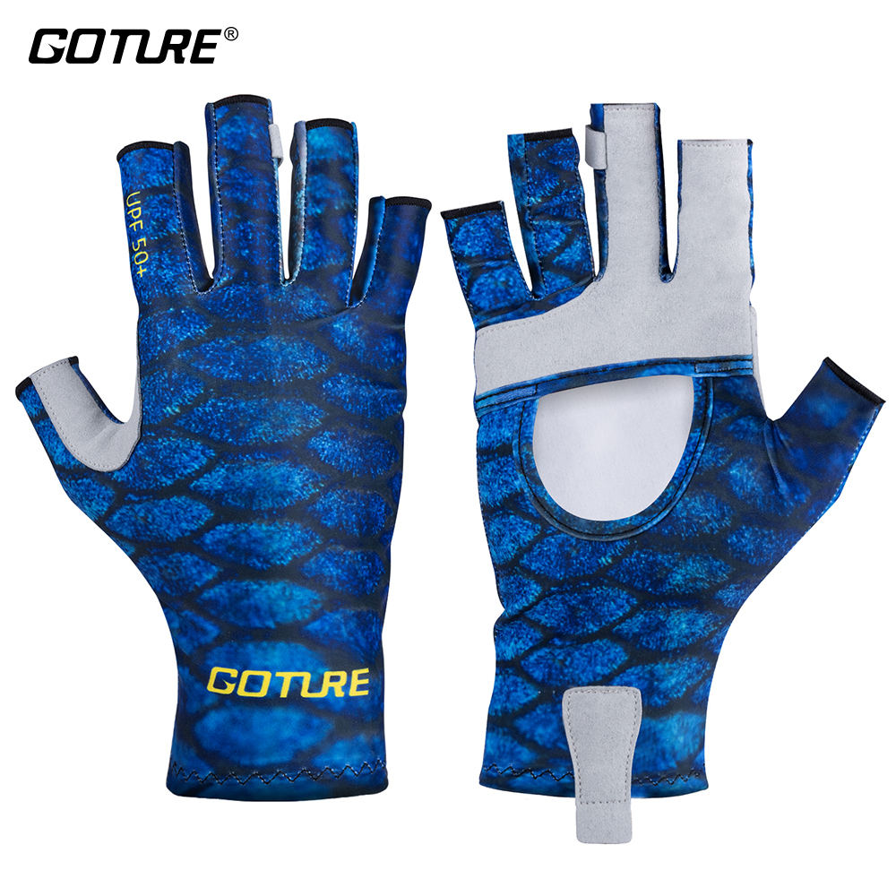 Goture Fishing Gloves Sun UPF 50+ Protection Breathable Gloves For Outdoor Sports Hunting Carp Fishing Accessories Pesca(China)