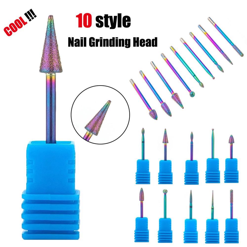 Nail File Nail Cone Tip Tungsten Steel Drill Bits Electric Cuticle Clean Rotary For Manicure Pedicure Grinding Head Sander Tool