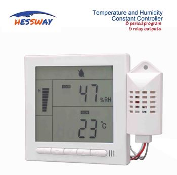 220V5A 8 period Programmable temperature and humidity rs485 for 5 relay control output