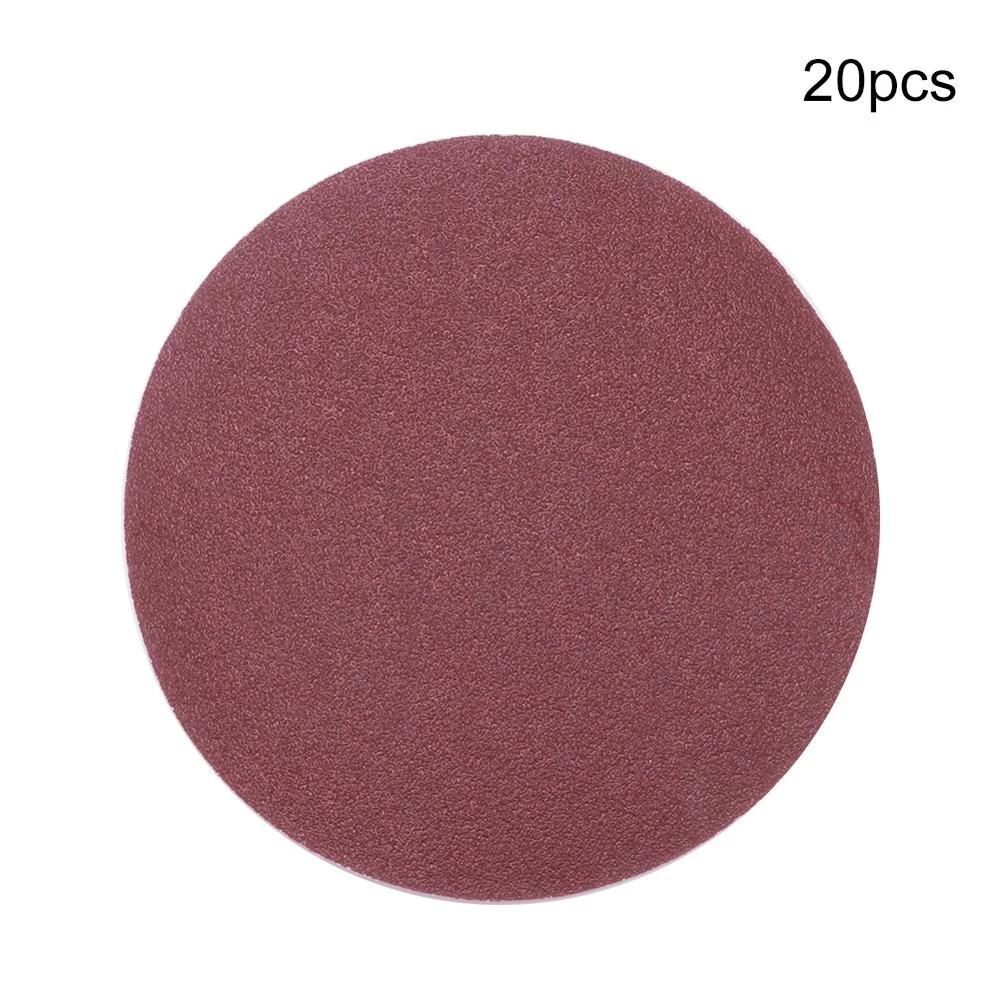8 Inch Polishing Round Sanding Flocking Sandpaper Disc 40-2000 Grit Alumina