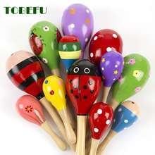 Hammer Musical-Instrument Wooden Rattle Infant Baby Kid 1pc Percussion Ball-Toy Sand