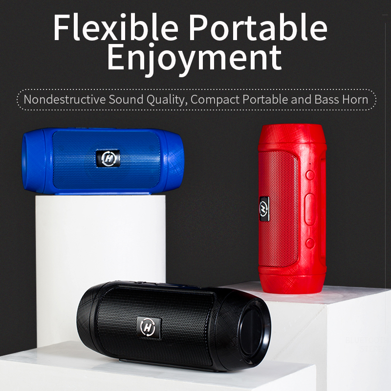 Portable Speaker Wireless Bluetooth Speakers TG117 Soundbar Column Loudspeaker Box Support TF Card Aux USB Disk