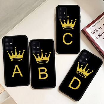 Funny gold crown letters Phone Case For Samsung galaxy S 7 8 9 10 20 edge A 6 10 20 30 50 51 70 note 10 plus image