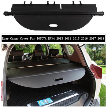 Rear Cargo Cover For TOYOTA RAV4 2013 2014 2015 2016 2017 2018 Partition Curtain Screen Shade Trunk Security Shield Accessories image