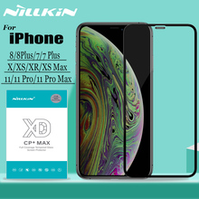 Nillkin for iPhone 11 Pro Max X XS XR 8 7 Plus Tempered Glass Screen Protector 3D Full Cover Safety