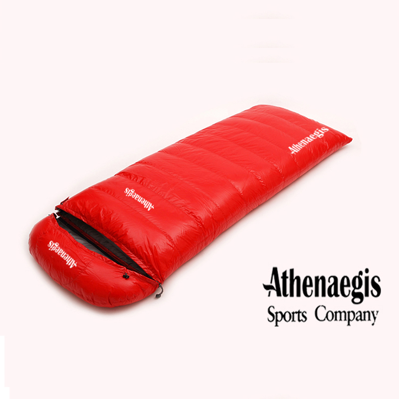 Ultra-light white goose down 1200g/1500g/1800g/2000g filling can be spliced envelope adult breathable thickening sleeping bag