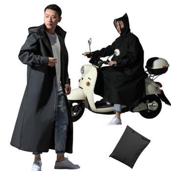 2019 moda eva płaszcz przeciwdeszczowy kobiety mężczyźni Zipper Poncho z kapturem motocykl odzież przeciwdeszczowa w dłuższym stylu turystyka Poncho środowiskowa kurtka przeciwdeszczowa tanie i dobre opinie Motorcycle Raincoat long waterproof the same shape support