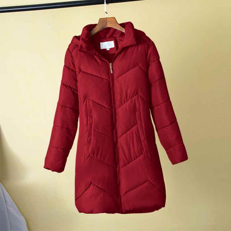 PLUS ขนาด 5XL 6XL 7XL ผู้หญิงฤดูหนาวหญิงฤดูใบไม้ร่วง Hooded Cotton Basic แจ็คเก็ต Outerwear ฤดูหนาว Slim ยาว chaqueta
