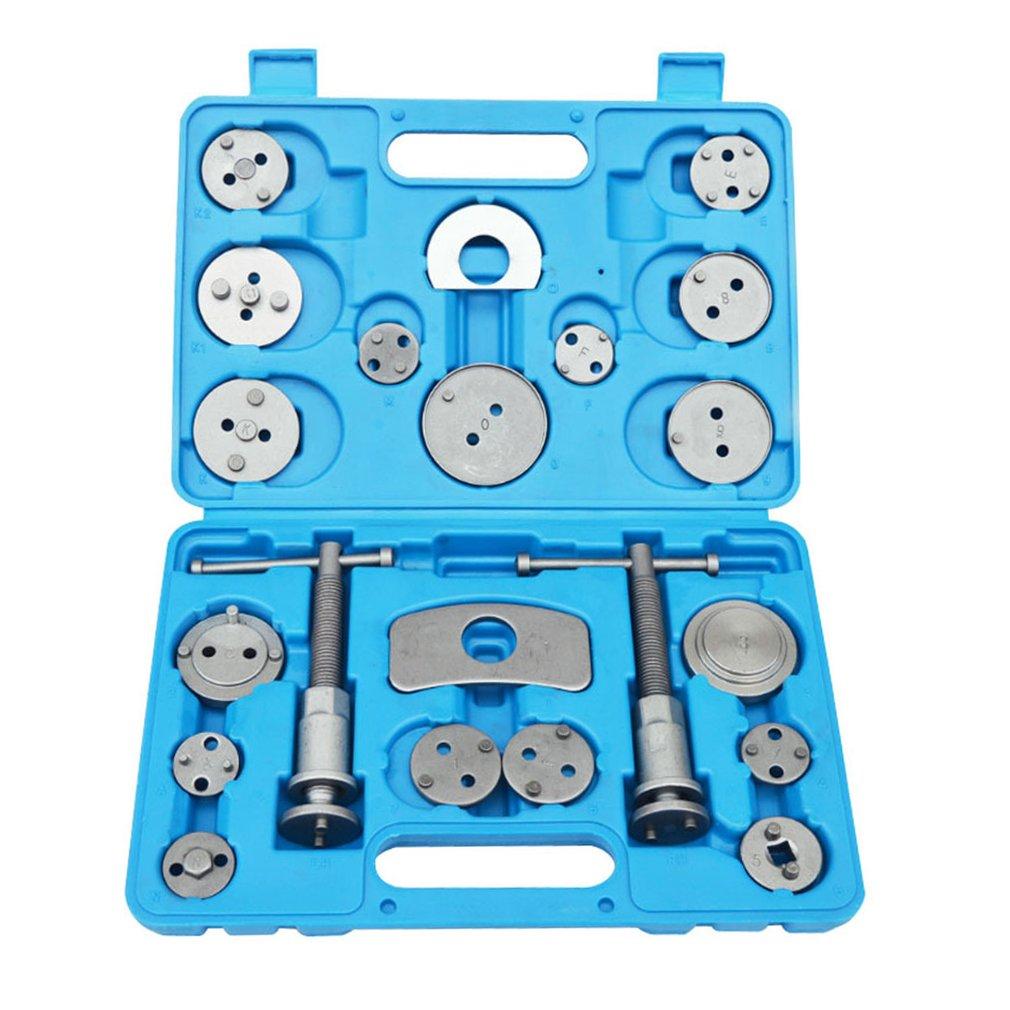 21pcs Universal Auto Car Precision Disc Brake Caliper Wind Back Tool Kit Brake Pad Brake Pump Brake Piston Car Repair Tool Kit